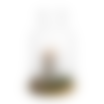 Oval Oak Candleholder Small