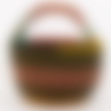 Bolga Picnic Basket Olive/Multi