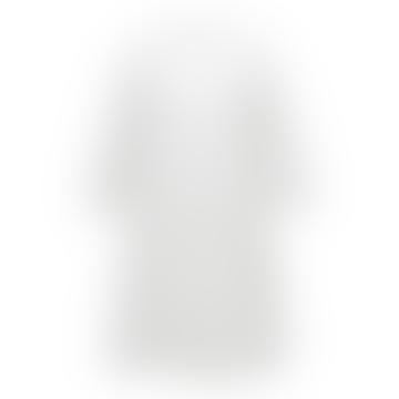 White Short Dress With Ruffle 021301 G