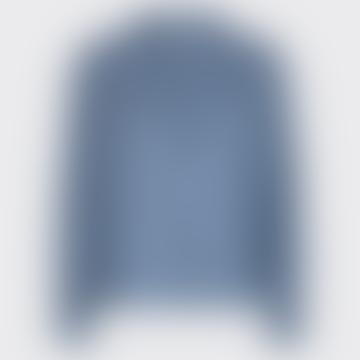 China Blue Boletteline Long Sleeved Blouse