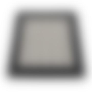 Pappelina Fia Rug Black and Vanilla 70 x 100cm