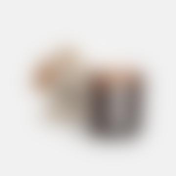 Amber Jar Candle / Black Ash + Frankincense