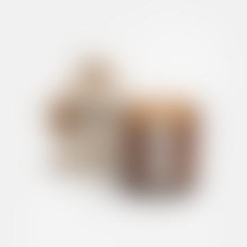 Amber Jar Candle / Smoked Rose + Sumatran Pine