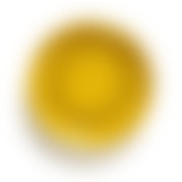 Assiette Creuse Sunny Yellow Swirl-Dots Noir Feast  X2
