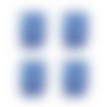 Blue Tortoise Glass Set of 4