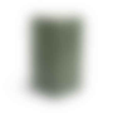Square Tile Vase in Dark Green