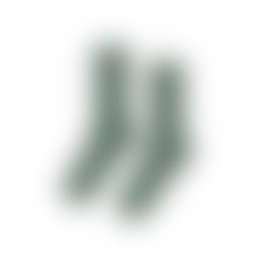 Bio Smaragdgrün grüne Baumwollsocken