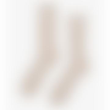 Ecru Bio-Baumwolle Kniestrümpfe Elfenbein Weiß