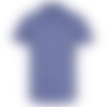 Larch Blue Linen And Organic Cotton Short Sleeve Shirt