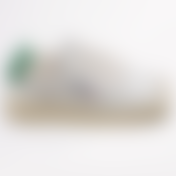 Mens Low White Green Trainers