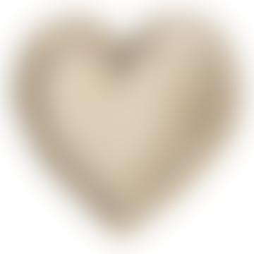 Carved Wooden Heart Dish Medium