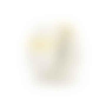 Small Round Yellow and Grey Splat Pot