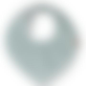 Kalli Organic Cotton Teething Bib In Ice Blue