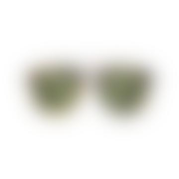 Green Tortoise H F S Sunglasses