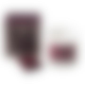 Bougie parfumée de luxe Burgundy Stars avec allumettes