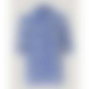 Mace Shirt White Blue Rosette