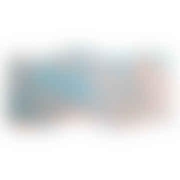 Dessous de plat fait main Blush Orange / Sky Blue