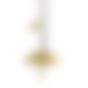 Hammered Brass Umbrella Necklace