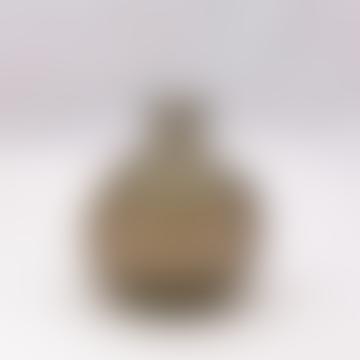 18cm Recycled Glass Vase - Grey Smoke