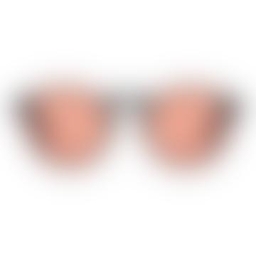 Cut Eight gafas de sol rojo claro negras
