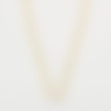 Collier chaîne à maillons longs avec perles baroques