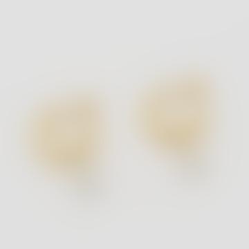 Créoles pendantes en perles plaquées or