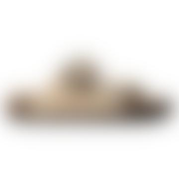 Arizona Big Buckle Nubuck Almond Leather Sandals