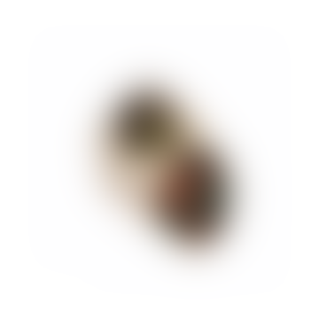 Earrings Brass Jesmonite Irregular Oval Black