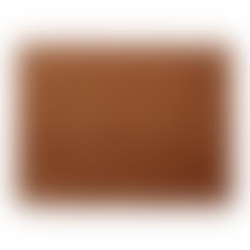 Placemat cotton velvet - set of 6: brown / orange, 50x35 cm