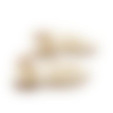 Artemis Gold Platinum flache Ledersandalen