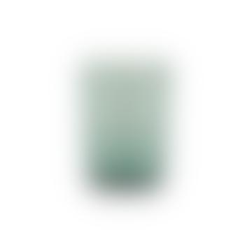 French Turquoise Amulet Handmade Glass Tumbler Set Of 2