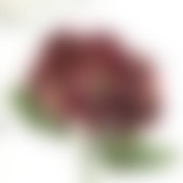 Hydrangea Red Dried Faux Stem