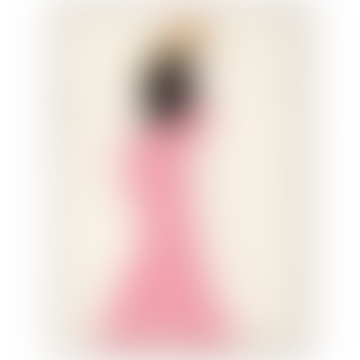 Pink Dress Art Print 50 x 70cm