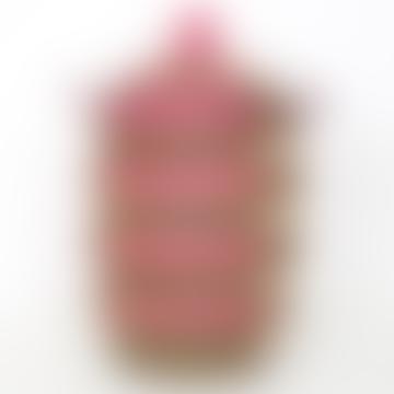 Pink/Brown/White Sene Block Laundry Basket, Medium Size