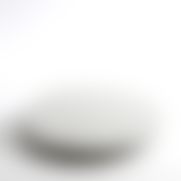 Round White Terrazzo Serving Platter