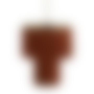 Terracotta Fringed Pendant