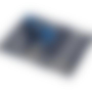 Blue Silvretta Ceiling Border Blanket