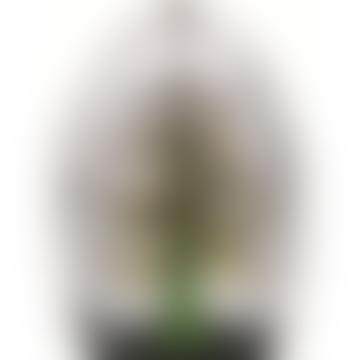 Sculpture en cristal arbre de vie vert moyen