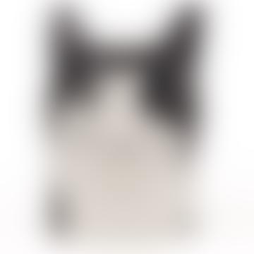 Barney Black and White Cat Pen Pot