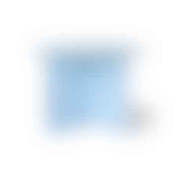 Mesa auxiliar de metal redonda azul