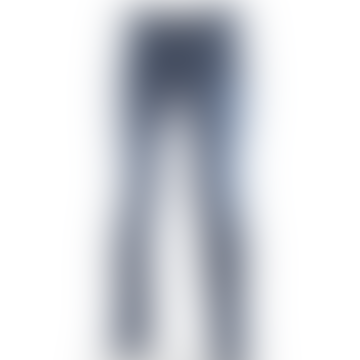 J688 COMF 2045 Brown Badge Jean in Dark Blue Wash