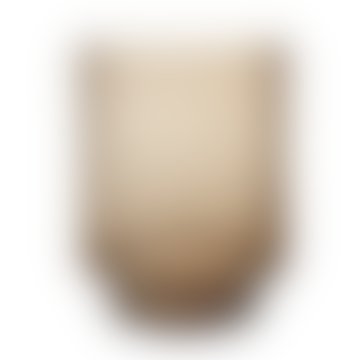 "Glass Vase ""Laura"", H23 x 18 cm - Brown"