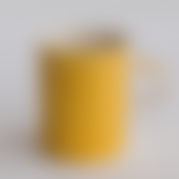 Handmade Turmeric Sgraffito Stripe Demi Mug