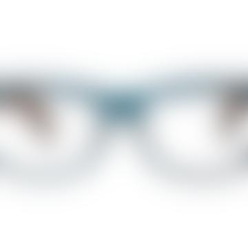 Dark Blue and Turtle Brown Kia Reading Glasses