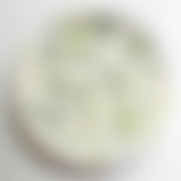 Medium Ceramic Plate - Green Dots