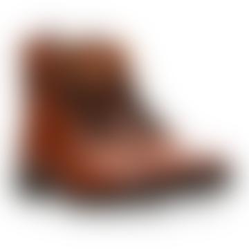 Anabela Cognac Pixel Boots