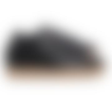 Black Bradley Cactus Leather Shoes