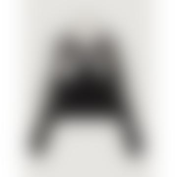 Raimond Inlay Black Cream Jumper