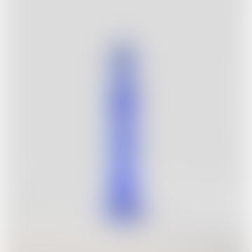 Blue Glass Candlestick Holder