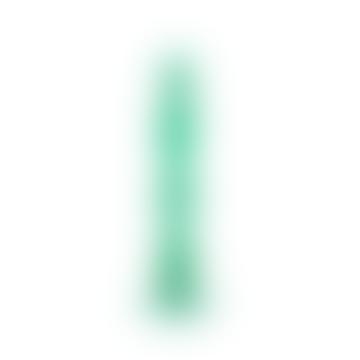 Green Glass Candlestick Holder